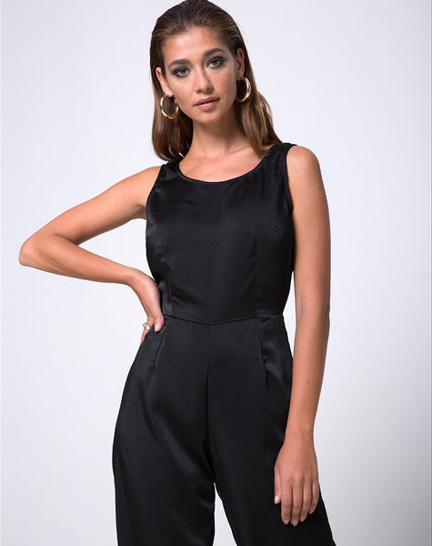 Kaios Cutout Jumpsuit in Black by Motel