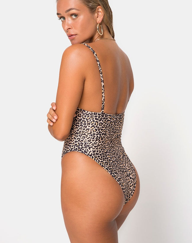 Kiah Swimsuit in Rar Leopard by Motel