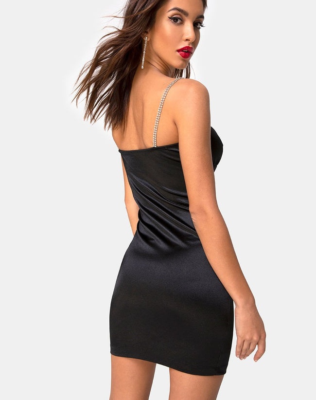 Kulani Dress in Black w/ Diamante by Motel