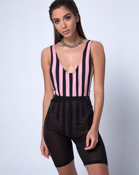 Lalung Bodice in Campbell Stripe By Motel Rocks