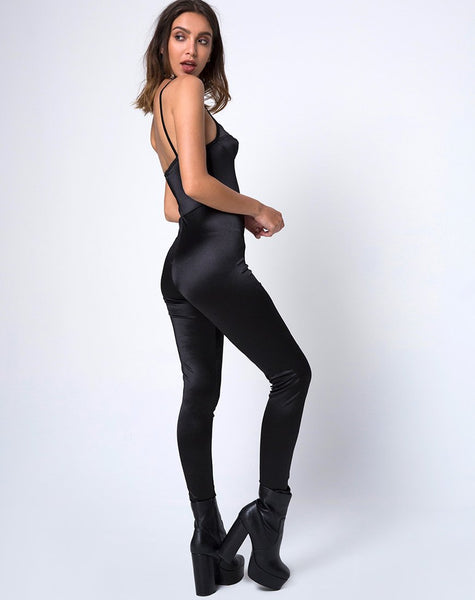 Lany Catsuit in Spandex Black by Motel