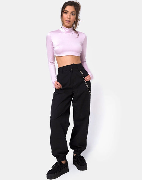 Laretta Crop Top in Lilac by Motel