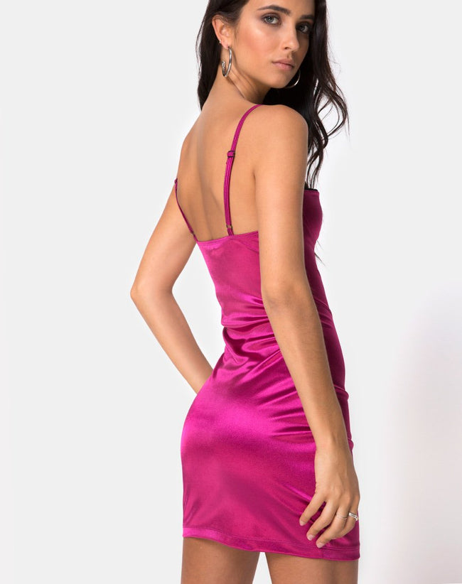 Lesty Bodycon Dress in Magenta by Motel