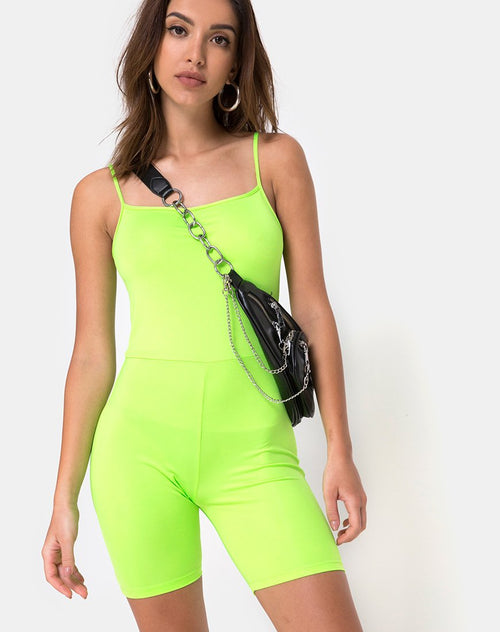 Lita Unitard in Fluro Green by Motel