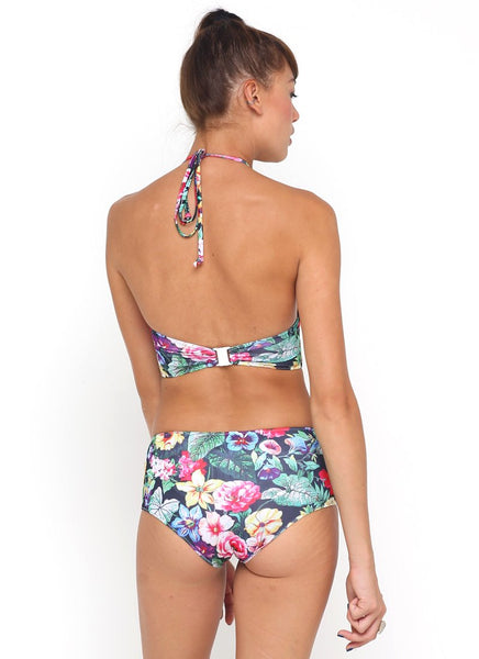 Longline Bikini Top in Cottage Garden by Motel