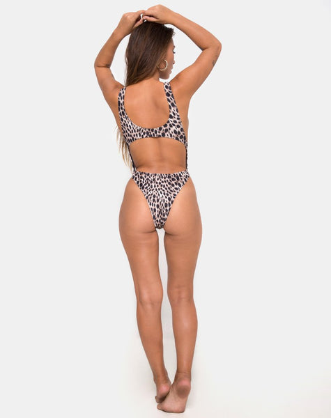 Lucy Swimsuit in Original Cheetah by Motel