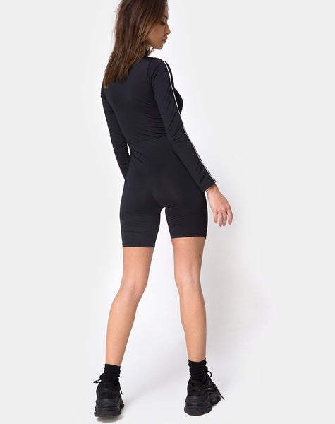 Malco Unitard in Black Fast Love by Motel
