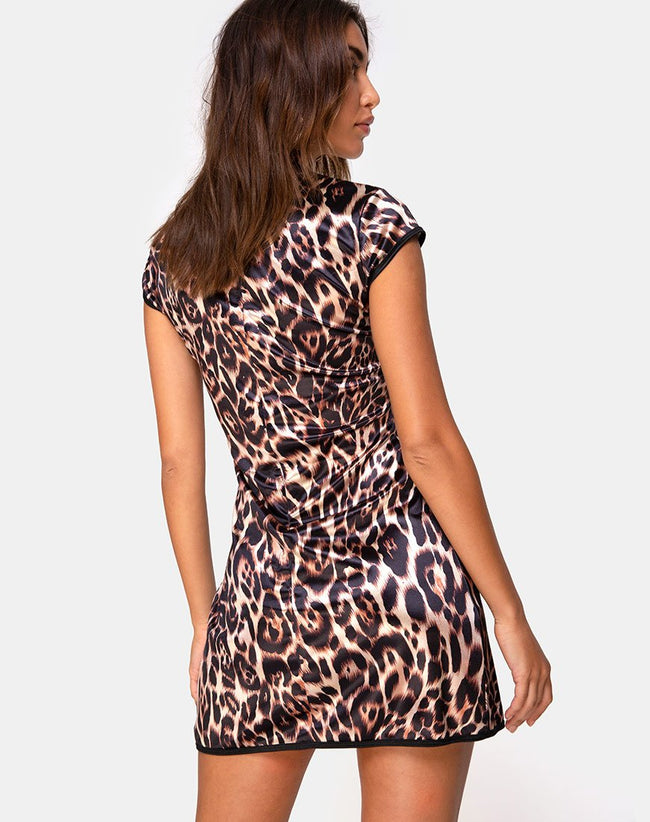 Mandi Mini Dress in Magic Leopard by Motel