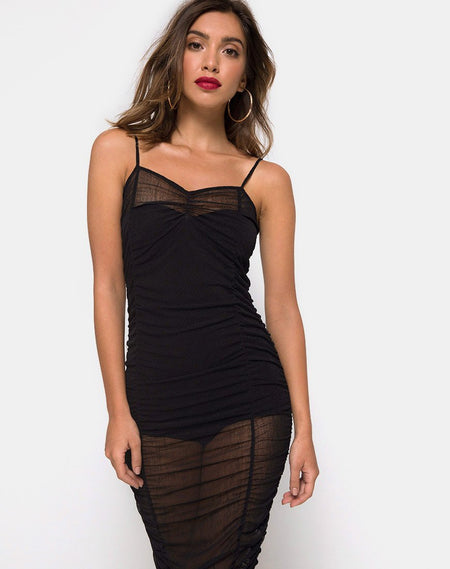 Satchel  Bodycon Dress in Black by Motel