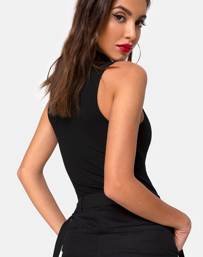 Mewcow Bodice in Black by Motel