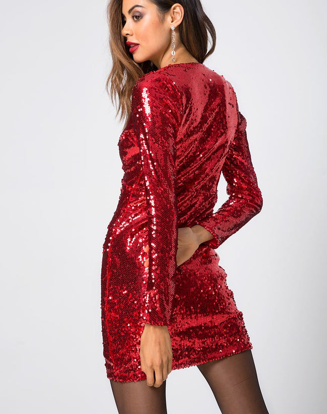 MELI FISHCALE SEQUIN RUBY (Z011987 RUBY)