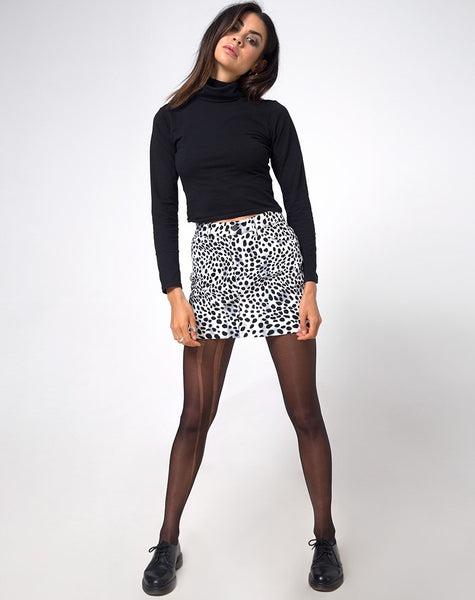 Mini Broomy Skirt in Dalmatian by Motel