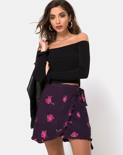 Mizti Skirt in Evening Rose by Motel