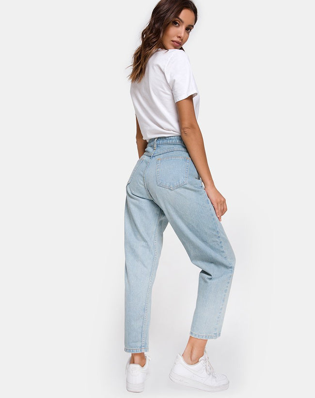 Mom Jeans in Blue Wash by Motel