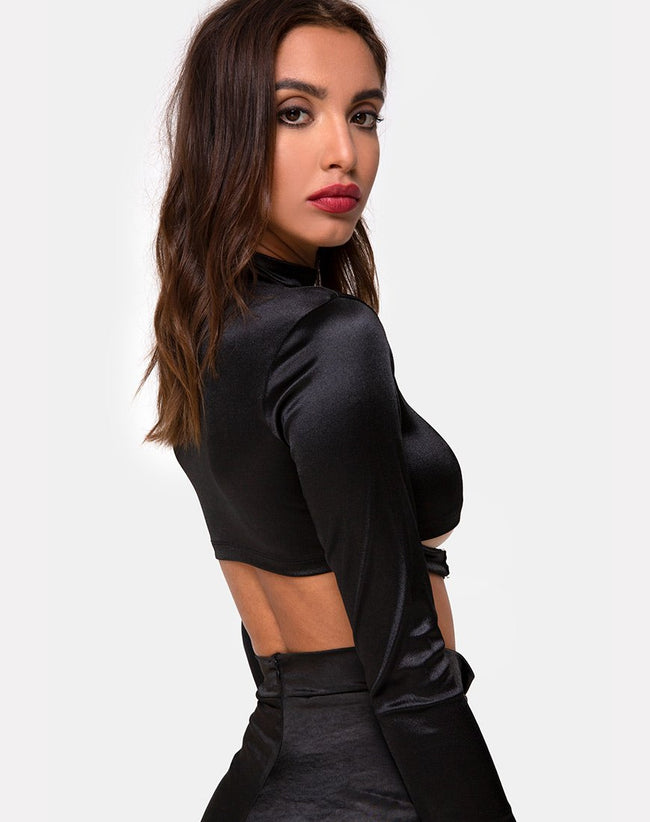 Moneca Top in Black by Motel