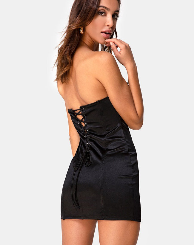 Morila Dress in Black by Motel