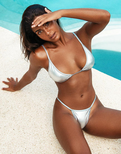 Valter Bikini Bottoms in Silver by Motel