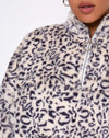 Nero Ring Pull Jacket in White Leopard