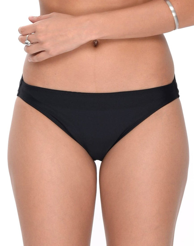 On Point Bikini Bottoms in Flaming Skies Black by Motel