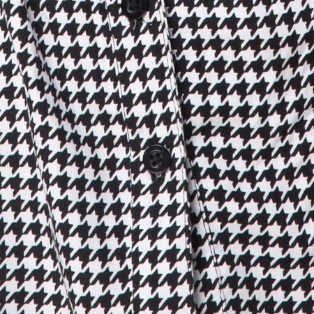 Oxford Shirt in Dogtooth By Motel