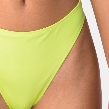 Meeka Bikini Bottom in Coated Lime by Motel
