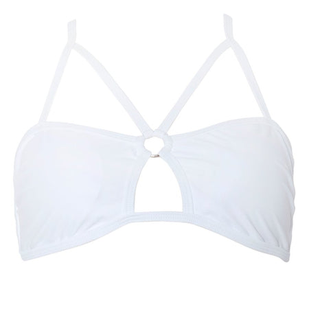 Pavlona Bikini Top in White by Motel