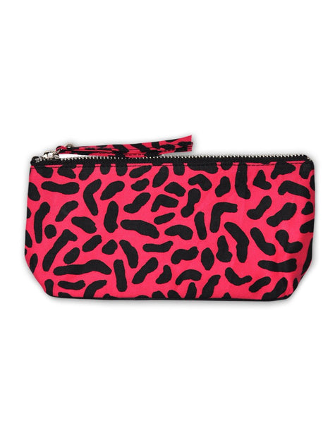 Motel Zip Pencil Case in Internet Germs Black and Pink