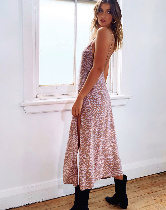 Hime Maxi Dress in Leopard Spot