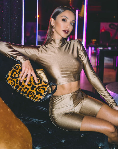Rhala Crop Top in Nylon Gold by Motel