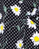 Reany Bodice in Polka Daisy Black by Motel