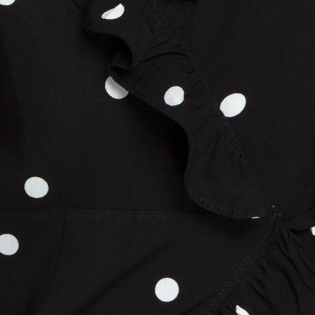 Rica Skater Dress in Black and White Polkadot by Motel