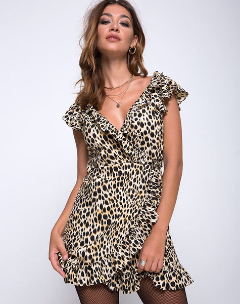 Rica Skater Dress in Cheetah by Motel