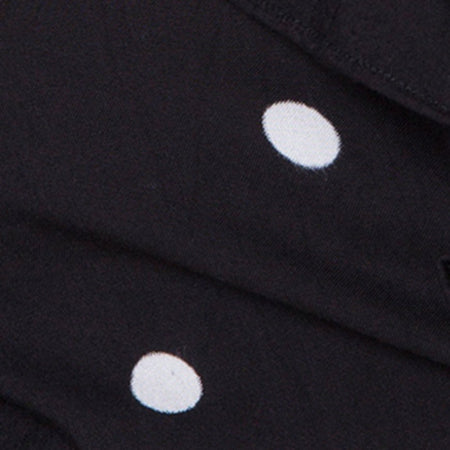 Riser Dress in Polkadot Black and White by Motel