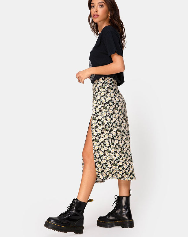 Saika Skirt in Aster Black by Motel