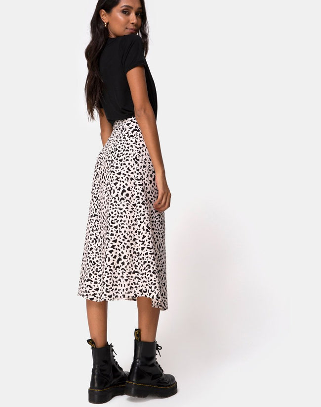 Saika Midi Skirt in Wild Thing by Motel