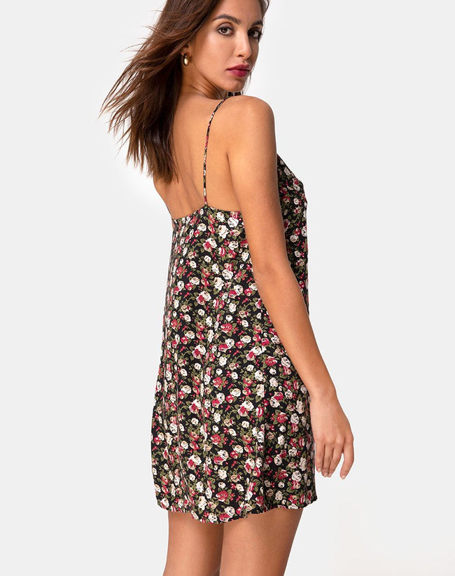 Sanna Slip Dress in Courtney Floral by Motel