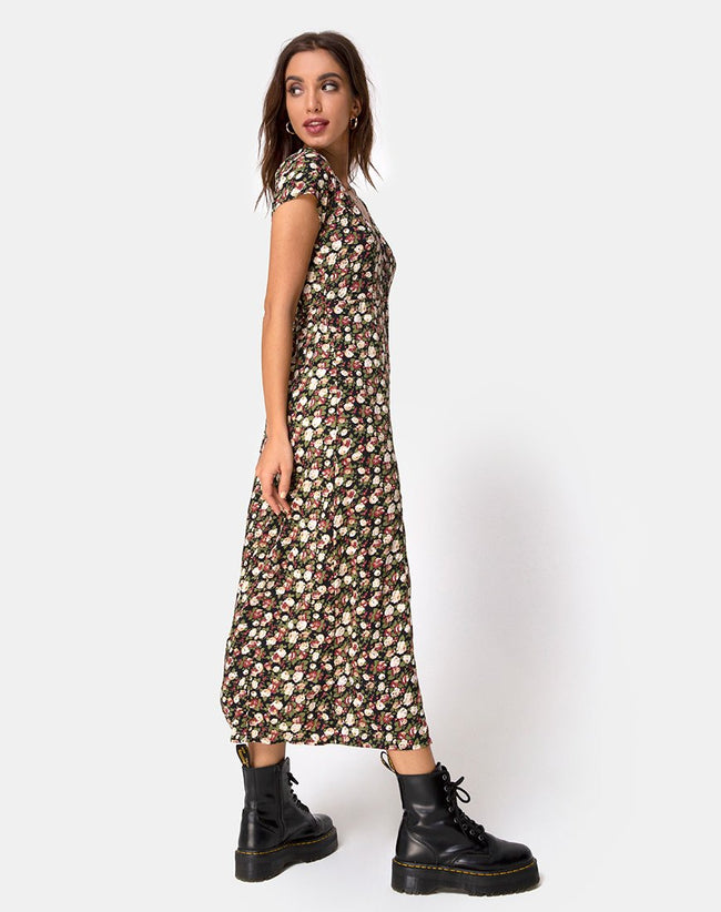 Sanrin Maxi Dress in Courtney Floral by Motel