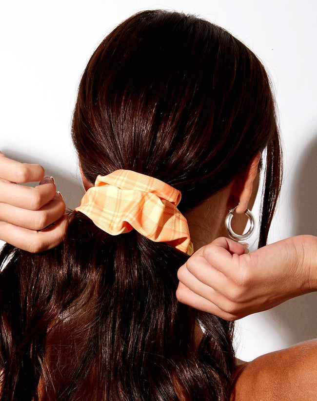 Scrunchie in Checking Out Orange