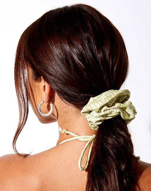 Scrunchie in Croc Green