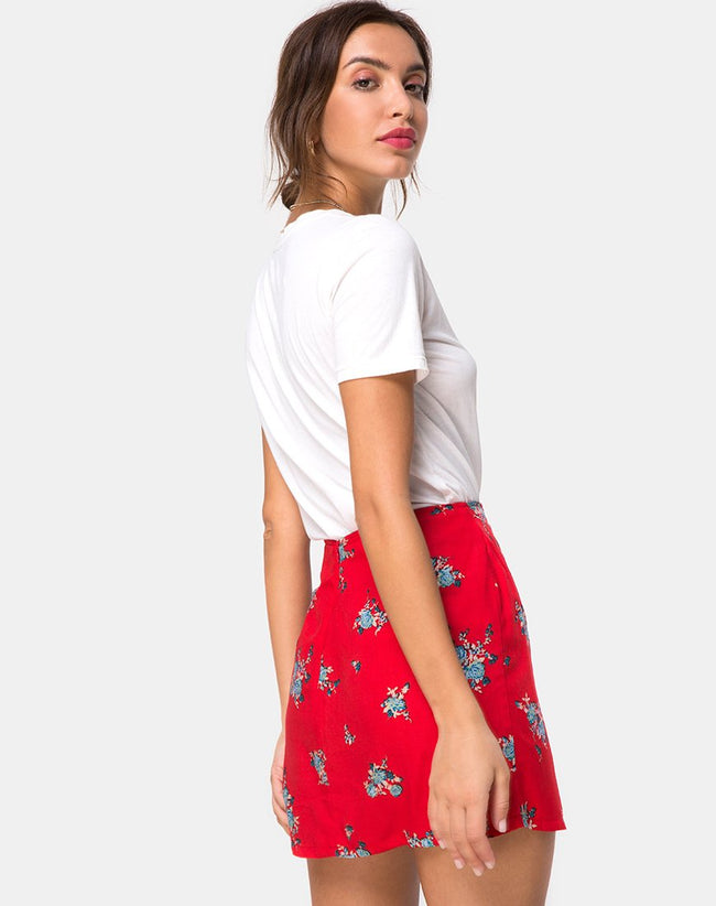 Sheny Skirt in Soi Rose Red by Motel