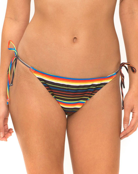 Sherbet Tie Bikini Bottom in Rainbow by Motel