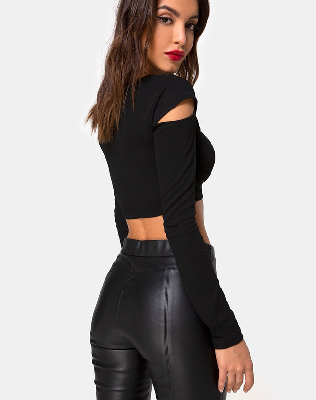 Shink Crop Top in Black by Motel