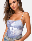 Sol Bodice in Angel Velvet Grey by Motel