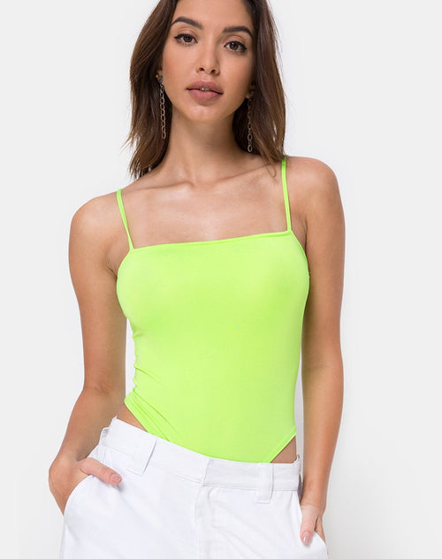 Sol Bodice in Fluro Green by Motel