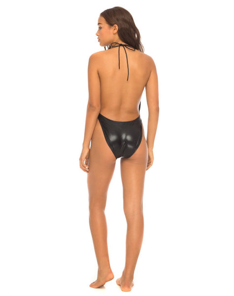 Star Bright Swimsuit in Metallic Black by Motel