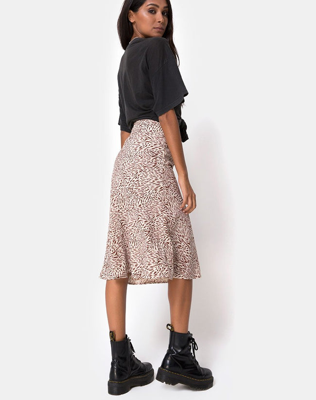 Tauri Midi Skirt in Safari Taupe by Motel