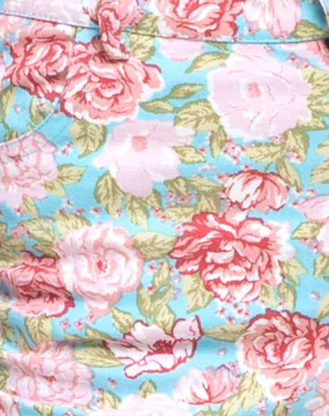 Ultimate Jean in Bloom Floral Blue Base by Motel