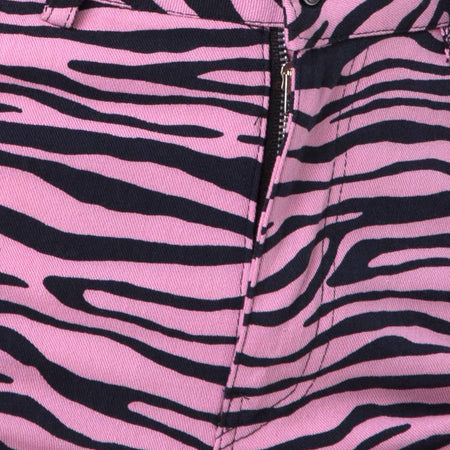 Ultimate Jean in Zip's Zebra Pink by Motel