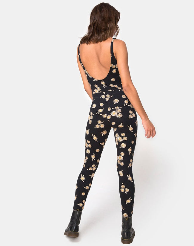 Unitard in Grunge Daisy Floral by Motel