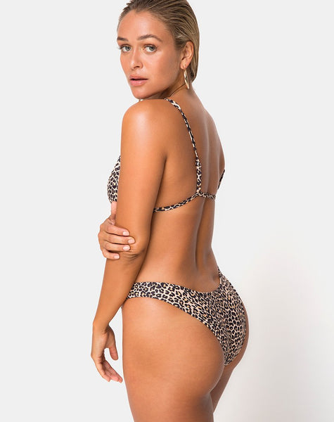 Valda Bikini Bottom in Rar Leopard by Motel